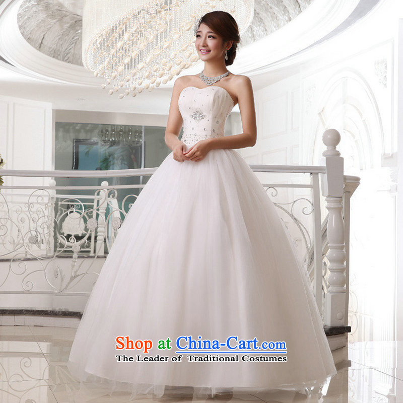 Taiwan's 2014 Korean style wedding dresses bride anointed chest straps flash XS19177 wedding package XL
