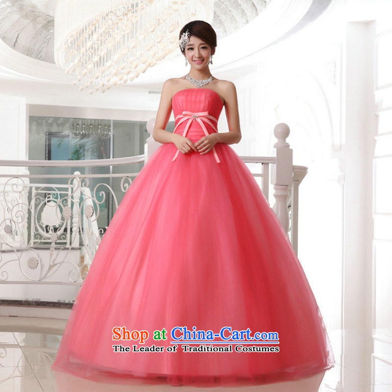Taiwan's 2014 wedding dresses Korean Princess bon bon align to wedding bride out of Mary Magdalene chest candy colored XS2057 package?XXL