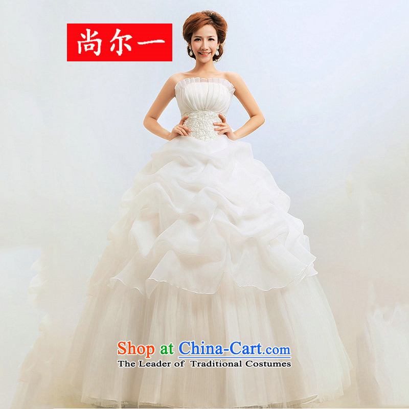 Taiwan's wedding dresses and chest to align the bride bon bon skirt winter Princess wedding XS2056 package?XL