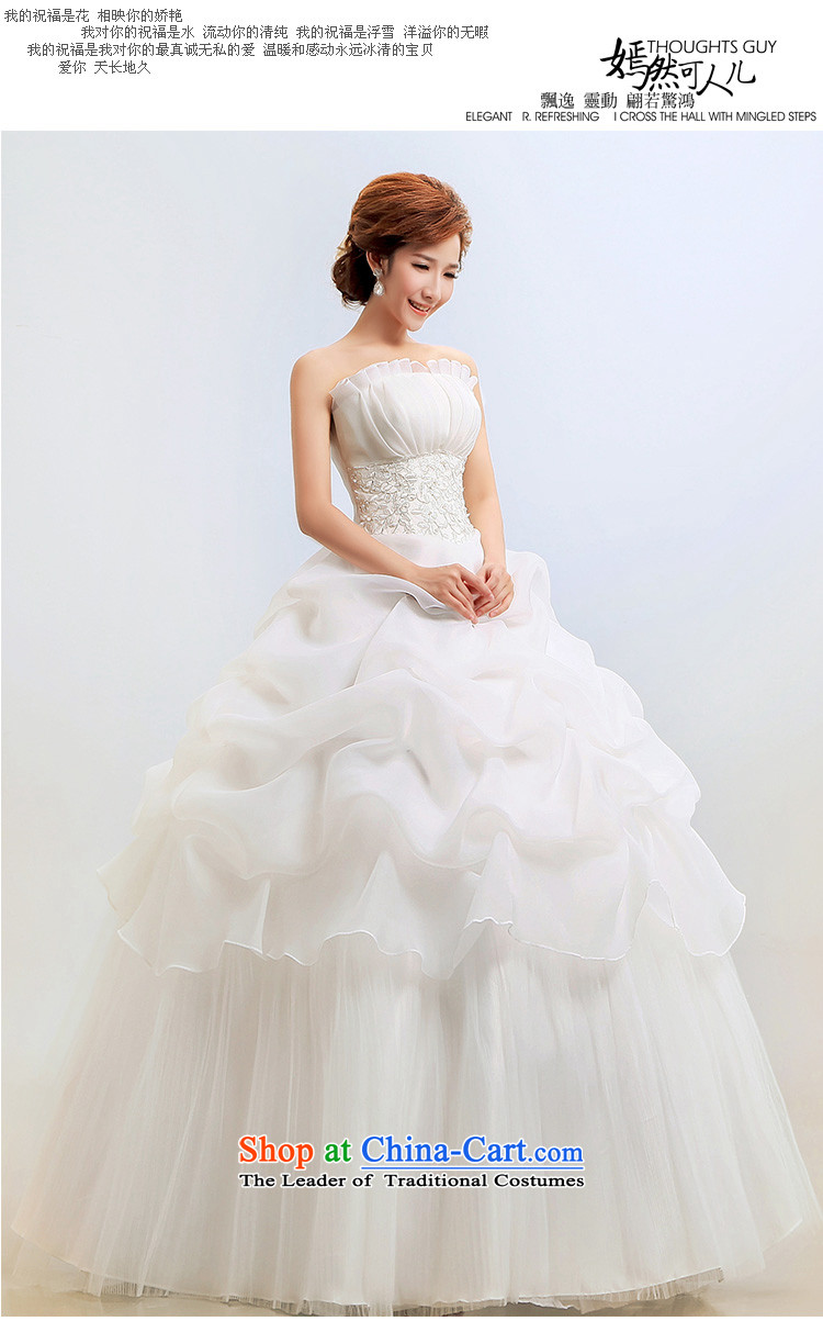 Taiwans Wedding Dresses And Chest To Align The Bride Bon Skirt Winter Princess Package