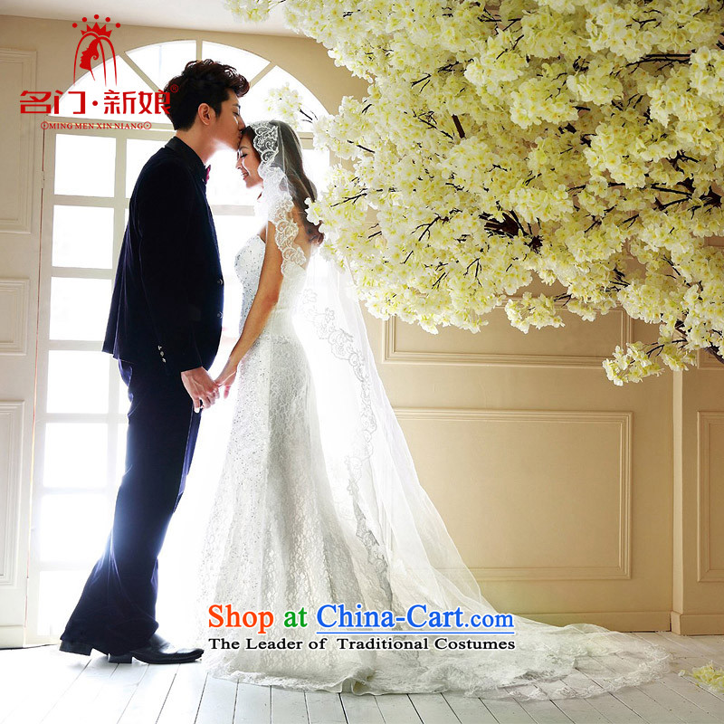 A bride wedding dresses new 2015 Korean Princess Deluxe anointed chest sin air small trailing white�L 859 wedding