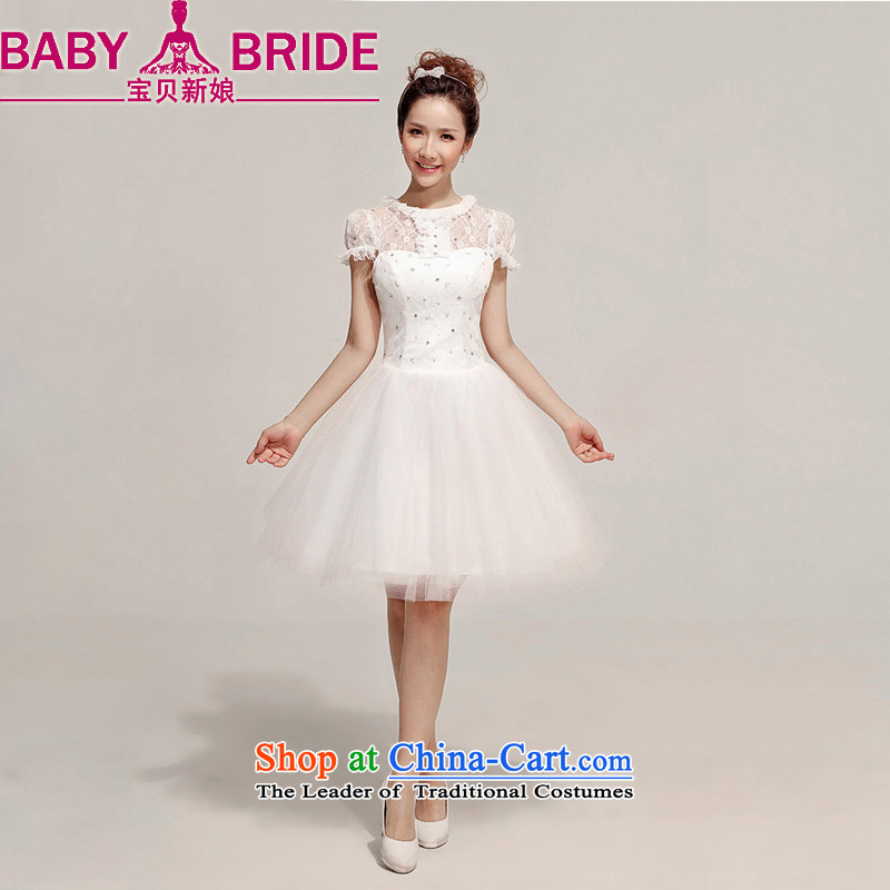 Baby Bride Wedding Dress Red Lace Short Bows Services Bridesmaid Dinner White 2 Feet