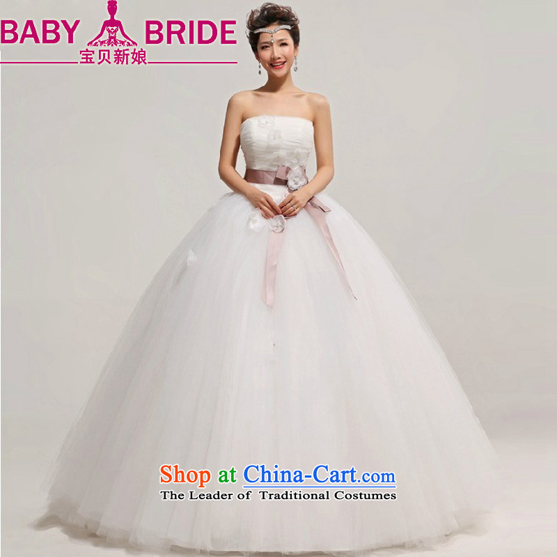 The Bride Korean baby Princess Bride anointed chest to wedding dresses 2014 New with a large number of pregnant women custom white?S