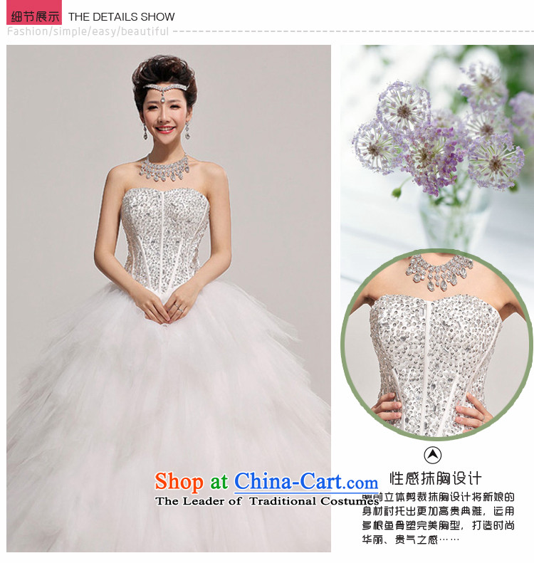 Baby bride winter wedding Korean wedding dress 2014 New Deluxe Diamond light V-Neck pregnant women wedding white picture, prices, S brand platters! The elections are supplied in the national character of distribution, so action, buy now enjoy more preferential! As soon as possible.