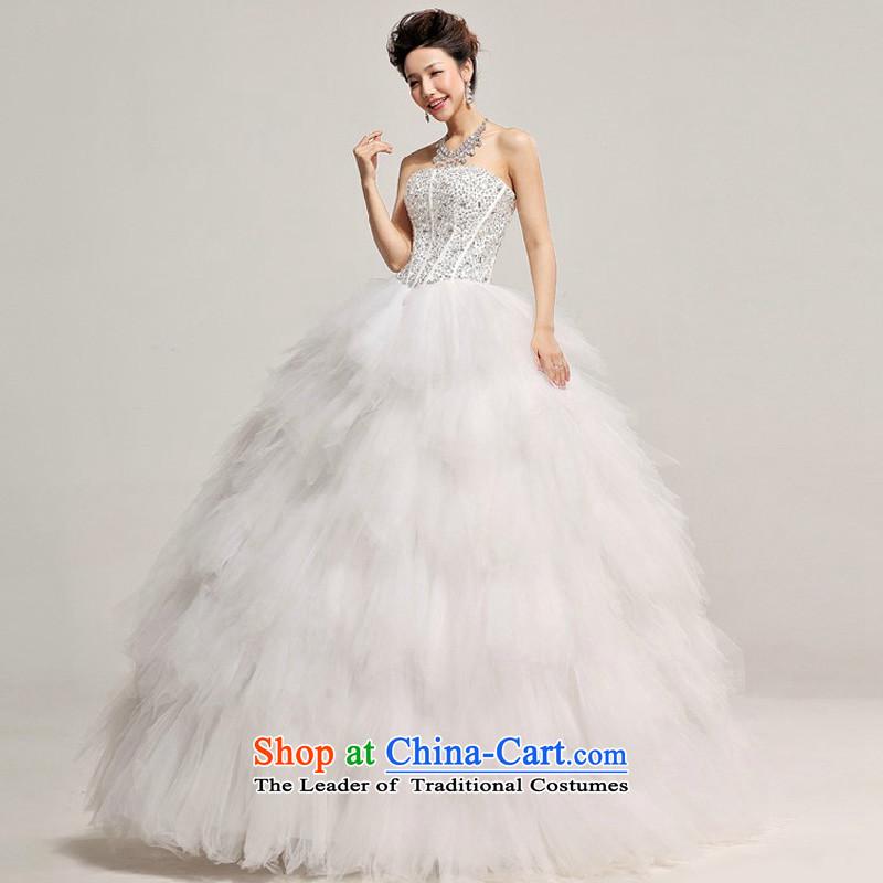 Baby bride winter wedding Korean wedding dress 2014 New Deluxe Diamond light V-Neck pregnant womenS, baby wedding white Bride (BABY BPIDEB) , , , shopping on the Internet