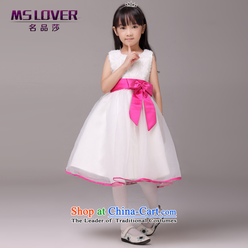 Mslover�sweet lace bon bon skirt girls princess skirt children dance performances to dress wedding dress Flower Girls dress��code 1005 m White 4