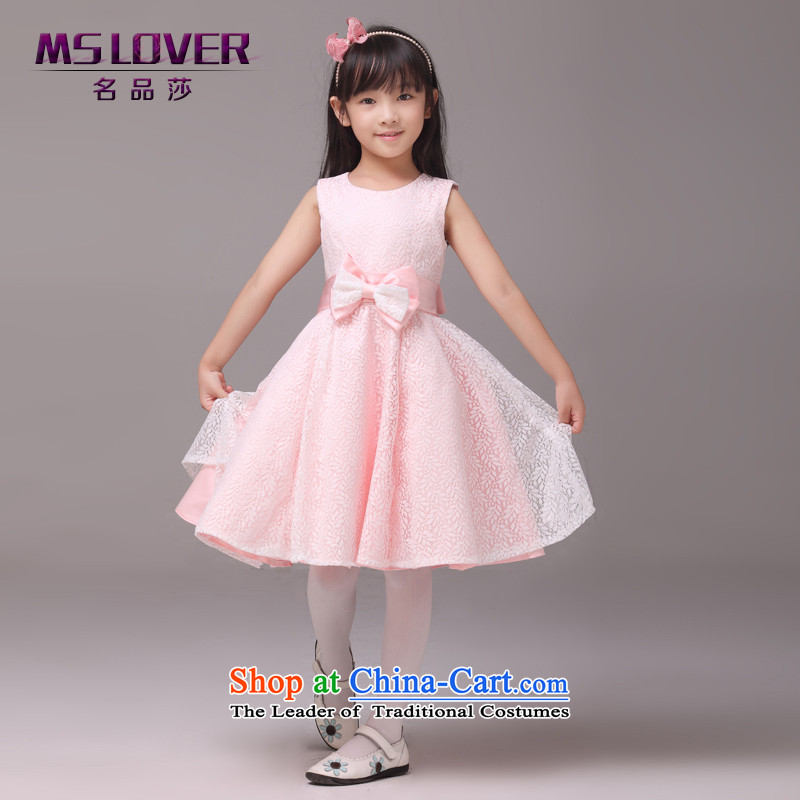 Mslover�sleeveless lace bon bon skirt girls princess skirt children dance performances to dress wedding dress Flower Girls dress�8812�Bubblegum Pink Color�6