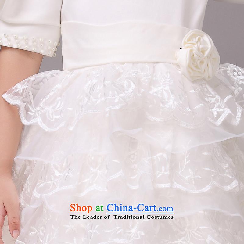 Mslovershort-sleeved lace bon bon skirt girls princess skirt children dance performances to dress wedding dress Flower Girls dress8820m White2 code, other Lisa (MSLOVER) , , , shopping on the Internet