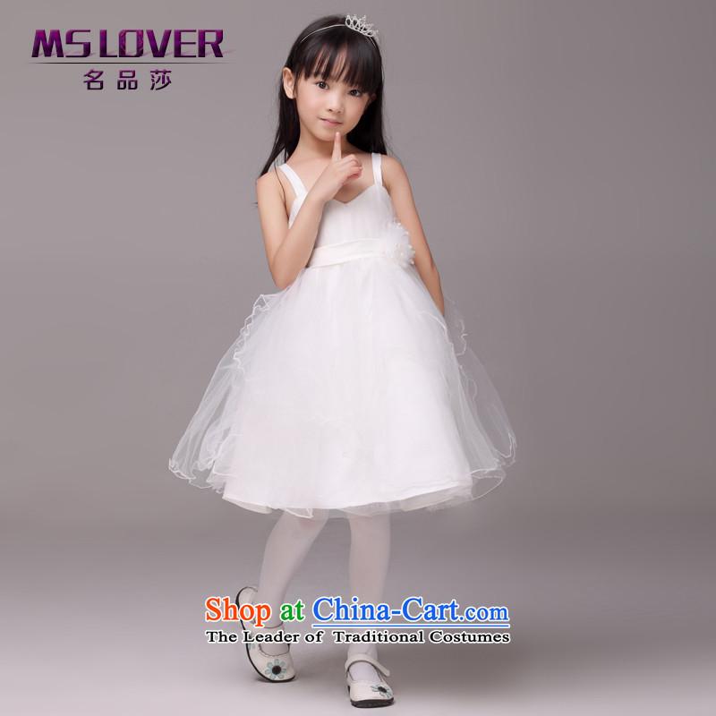 Mslover�minimalist straps bon bon skirt girls princess skirt children dance performances to dress wedding dress Flower Girls�8823�m�4 white dress code