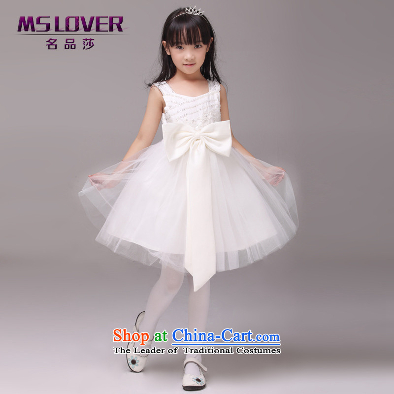 �The bow-tie mslover bon bon skirt girls princess skirt children dance performances to dress wedding dress Flower Girls dress�rice white�10 yards 8825 (3-7 day shipping.)