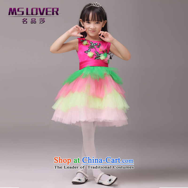Mslover?embroidery flowers bon bon skirt girls princess skirt children dance performances to dress wedding dress Flower Girls dress in 8832 Red?12 code (3-7 day shipping) scheduled