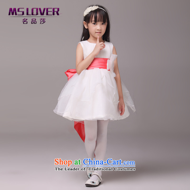 The bow-tie mslover bon bon skirt girls princess skirt children dance performances to dress wedding dress Flower Girls Dress  Code Red 6 9085 Watermelon