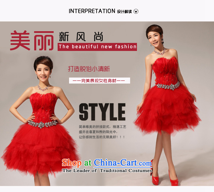 Baby bride wedding dresses red sister skirt feather small tents skirts and chest bridesmaid small dress short skirt as binding with short, feather sister small tents skirt red S picture, prices, brand platters! The elections are supplied in the national character of distribution, so action, buy now enjoy more preferential! As soon as possible.