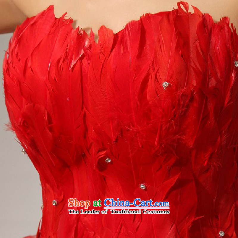 Baby bride wedding dresses red sister skirt feather small tents skirts and chest bridesmaid small dress short skirt as binding with short, feather sister small tents skirt red S, darling Bride (BABY BPIDEB) , , , shopping on the Internet