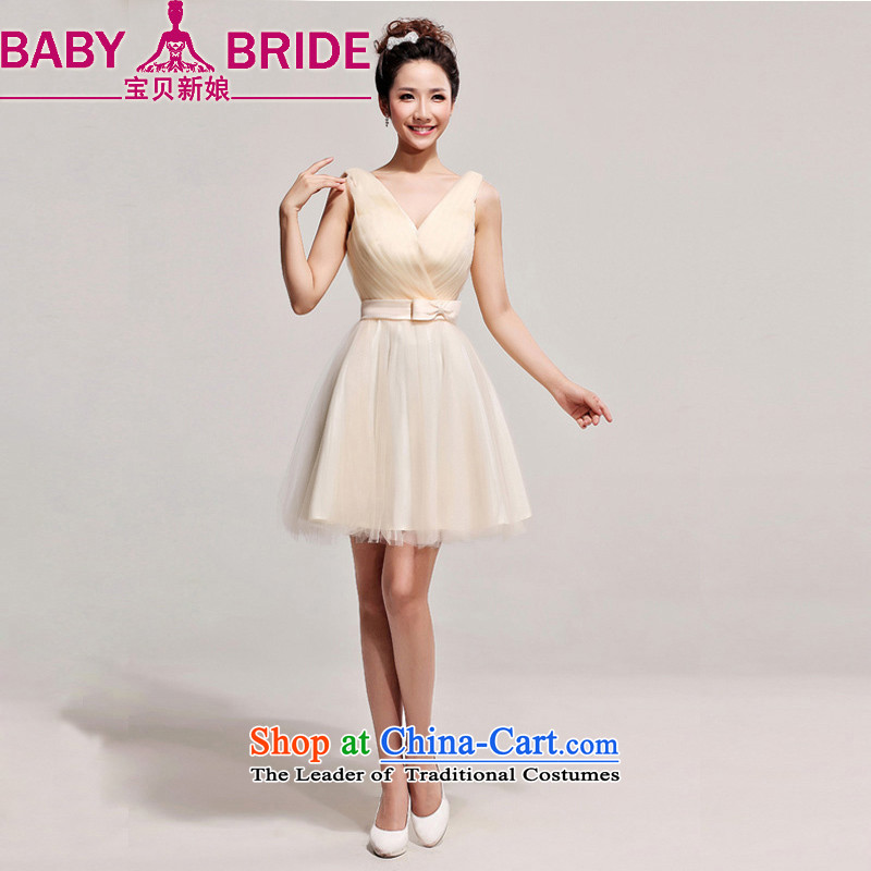 The new bride bo 2014 marriage, short skirt Western big red white dress bride incense fashionable colors?S