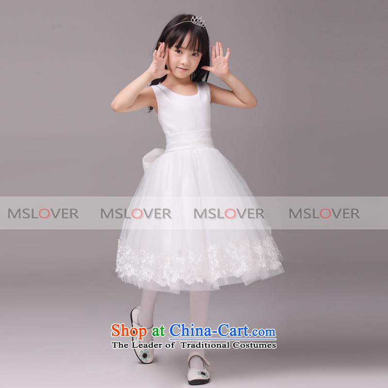 ?Lace large mslover bow tie dress bon bon skirt princess skirt children dance performances to birthday dress Flower Girls serving HTZ130905 rice white?6 yards