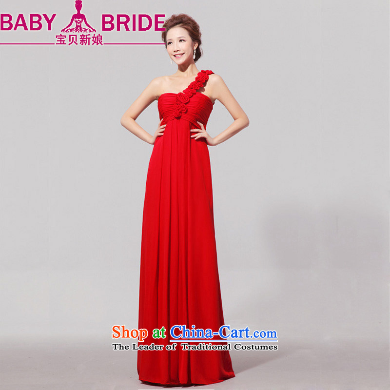Baby Clothes Summer blouses and bride 2014 New Star magazine Red long align to dress the bride skirt red?S