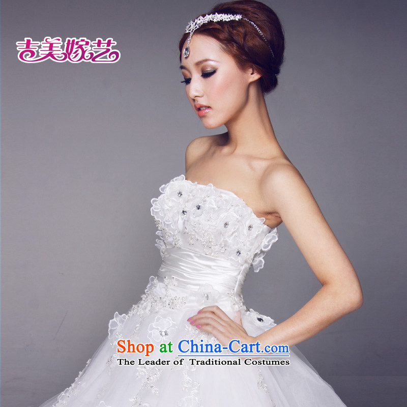Beijing No. year wedding dresses Kyrgyz-american married new anointed arts 2015 Chest Korean skirt 623 brides princess wedding ivory XXXL