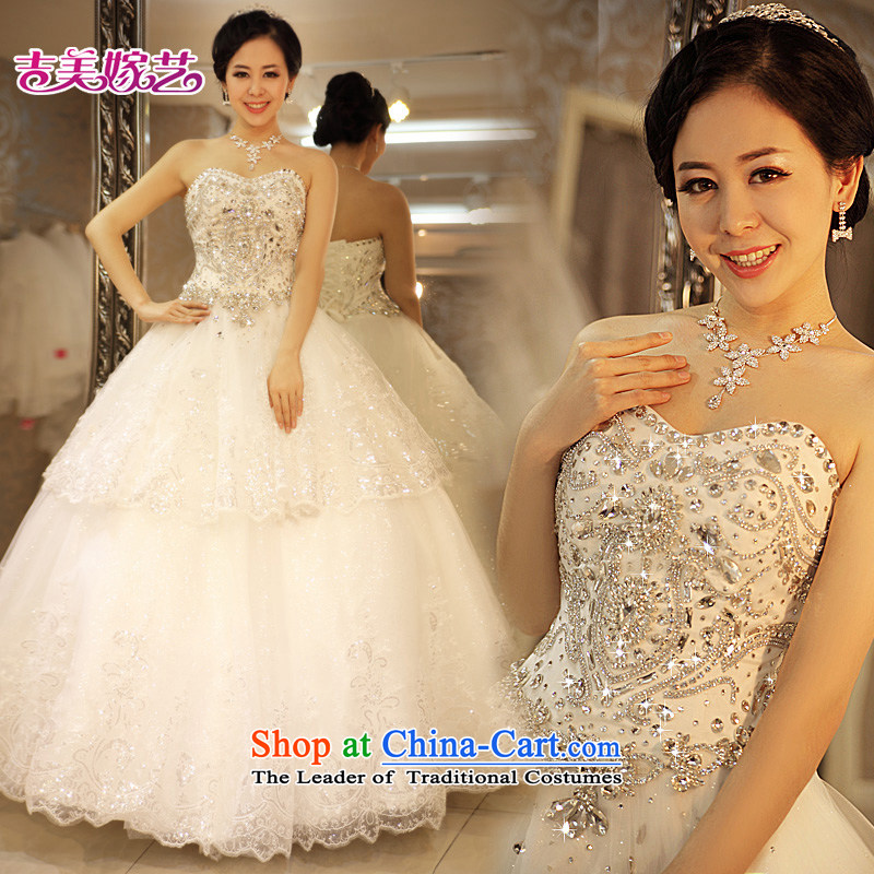 Pre-sale products in Beijing - wedding dresses Kyrgyz-american married arts large wedding 2015 new anointed chest Korean Princess Bride 997 wedding dress ivory -1.5 m tail XXL