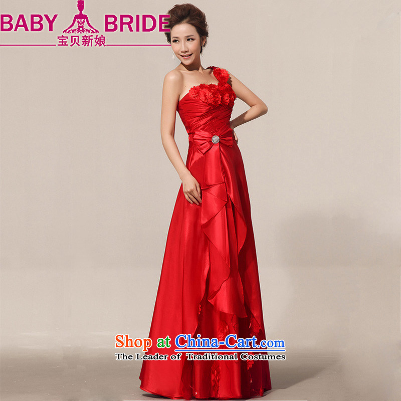 2014 new bride treasure summer red retro bride bows service     Marriage atmospheric evening dresses red�XXL( upgrade strap)