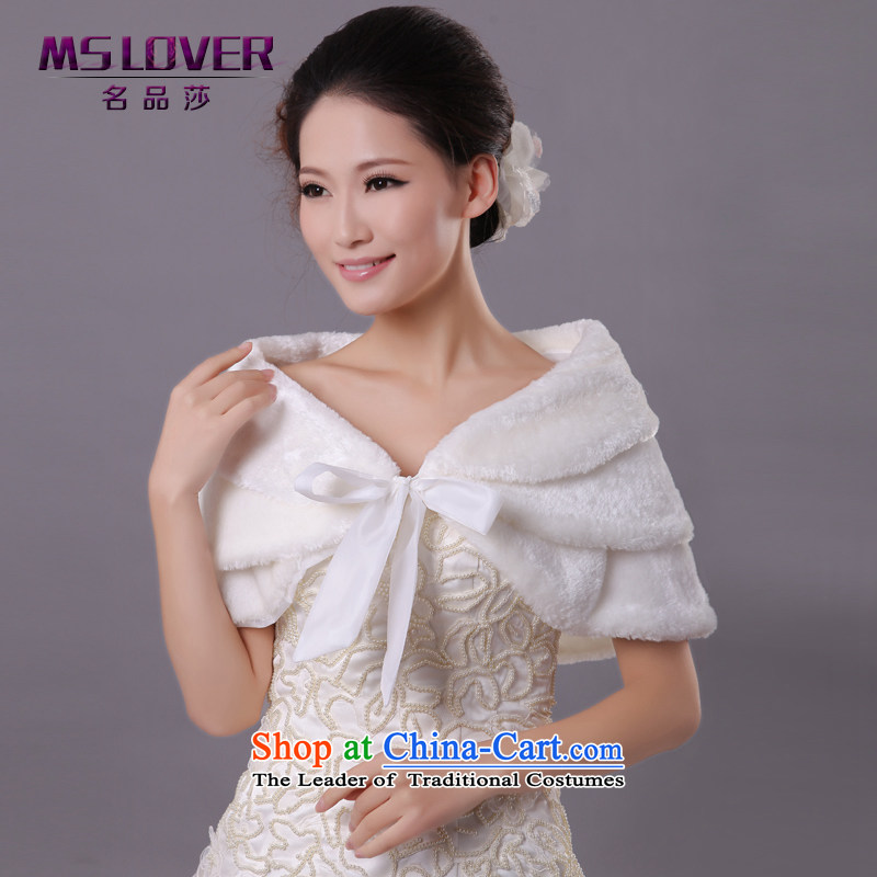 ?Wedding dress in spring and autumn mslover warm winter partner velvet creases tether marriages shawl?FW121107 gross?Ivory