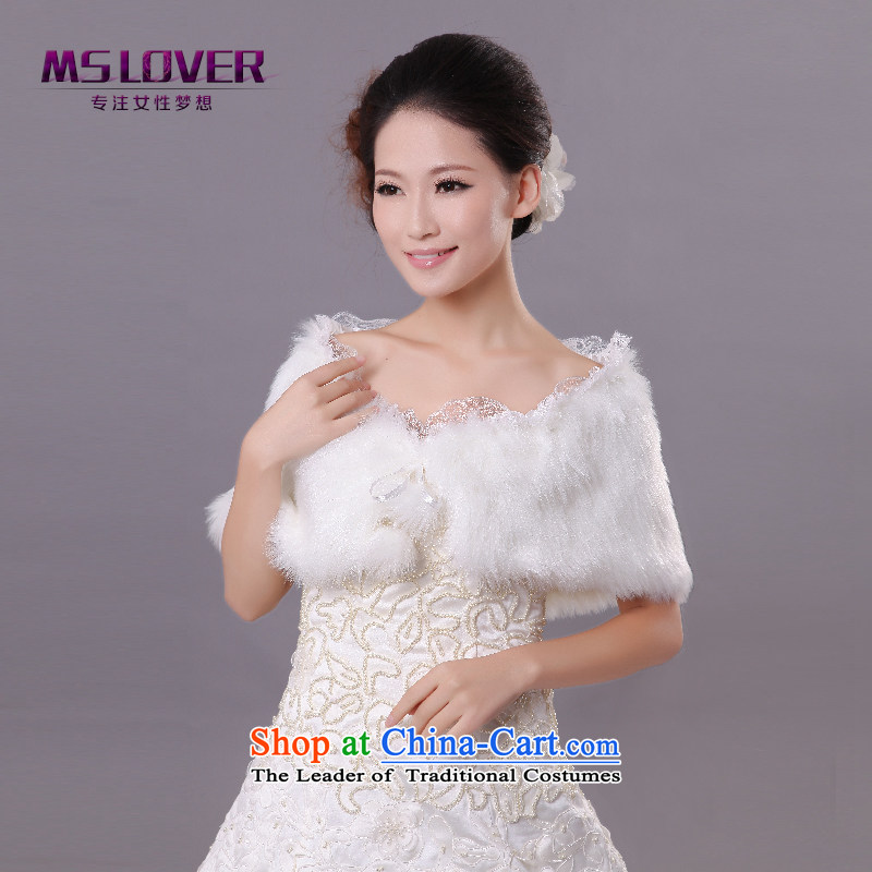 �Wedding dress in spring and autumn mslover warm winter partner plush lace system with ball marriages shawl�FW121106 gross�Ivory