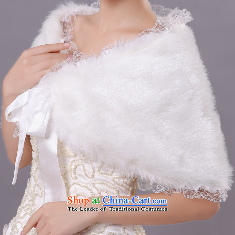 Wedding dress in spring and autumn mslover warm winter partner plush lace edge tether marriagesFW121112 gross shawl, ivory, Lisa (MSLOVER) , , , shopping on the Internet