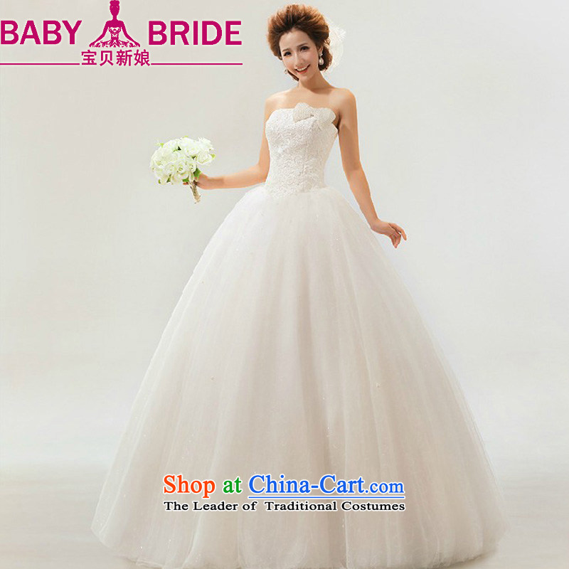 2014 new bride treasure wedding sweet elegant Korean sweet retro marriages wedding dresses m White?L