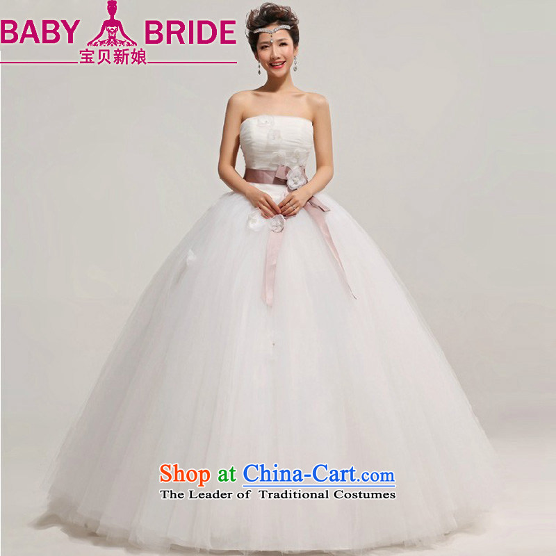 The Bride Korean baby Princess Bride anointed chest wedding dresses 2014 New with a large number of pregnant women do not customize white return - the size of the message
