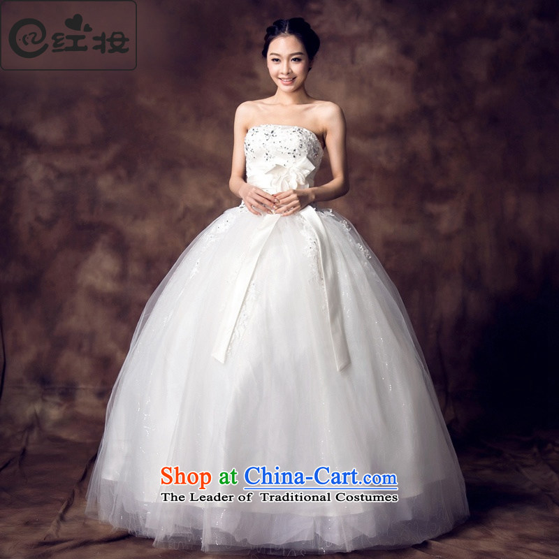 Recalling that hates makeup and spring and summer wedding dress the new bride to bind 2015 align with Mary Magdalene chest bow tie water drilling princess bon bon skirt H13706 white sexy beauty?L