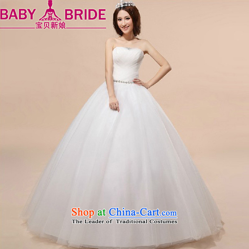 Baby bride Wedding 2014 autumn and winter new Korean alignment with chest wedding sweet princess bon bon skirt wedding white made no returns - The size of the message