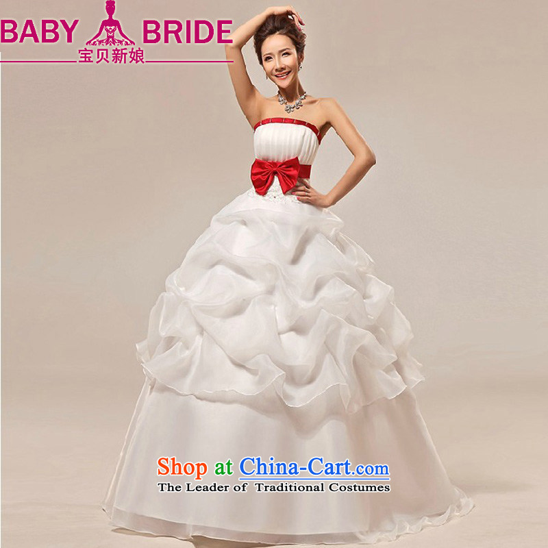 New bride treasure wedding dresses and stylish Korean sweet Princess Mary Magdalene Chest straps marriages wedding dresses made white does not return - size please leave a message