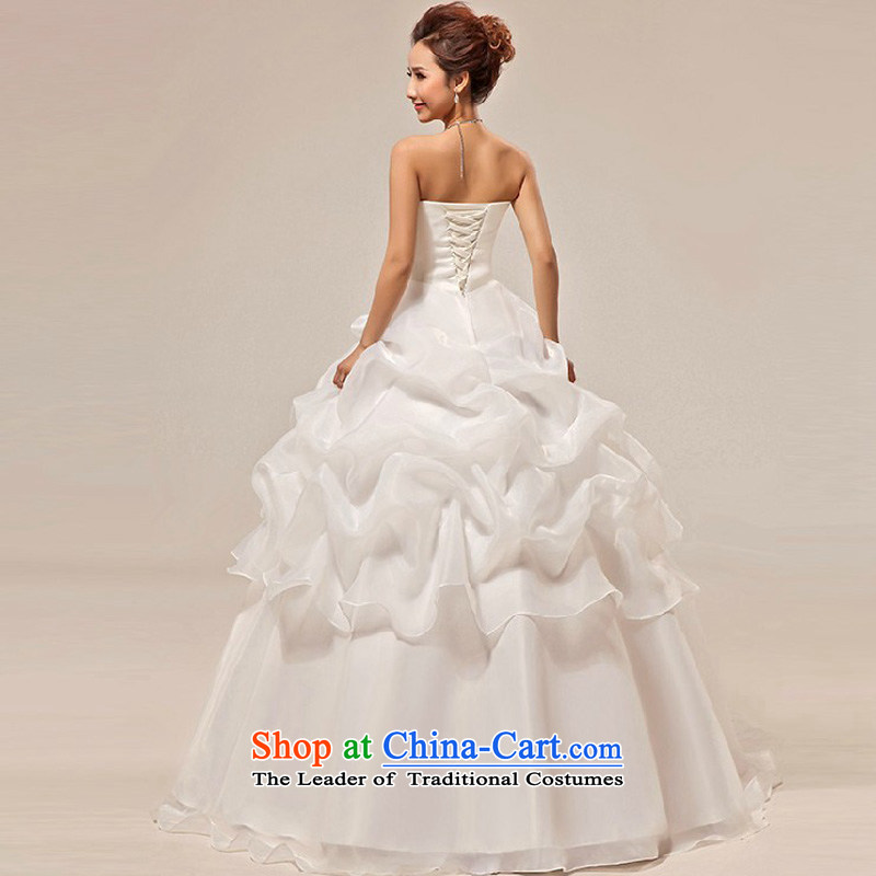New bride treasure wedding dresses and stylish Korean sweet Princess Mary Magdalene Chest straps marriages wedding dresses made white does not return - the size of the messages, darling Bride (BABY BPIDEB) , , , shopping on the Internet