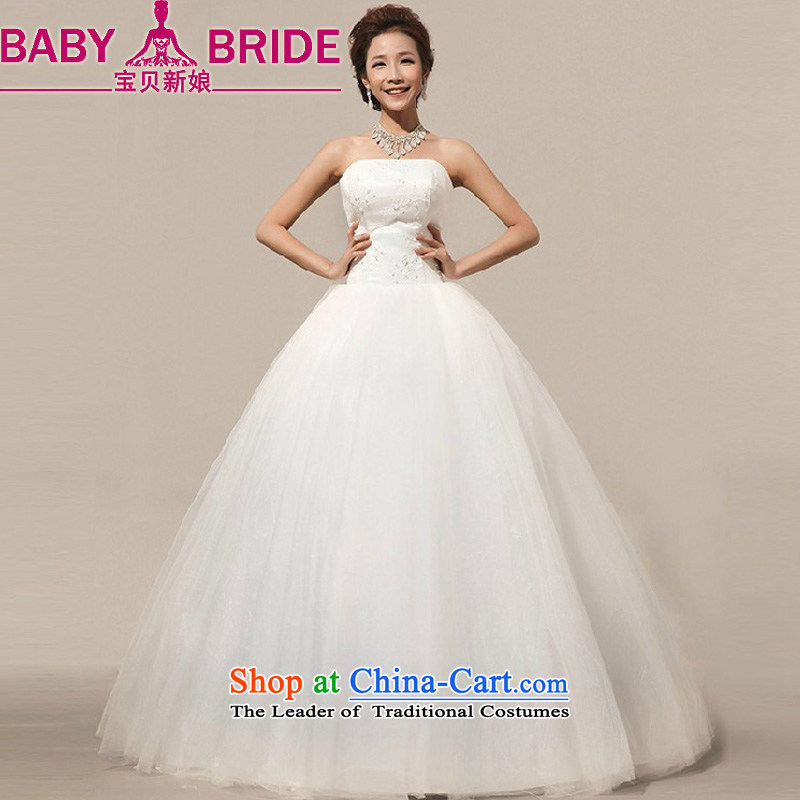 2014 new bride treasure on the new tissue chest bon bon skirt to bind with the bride align sweet lace wedding dresses White XXL