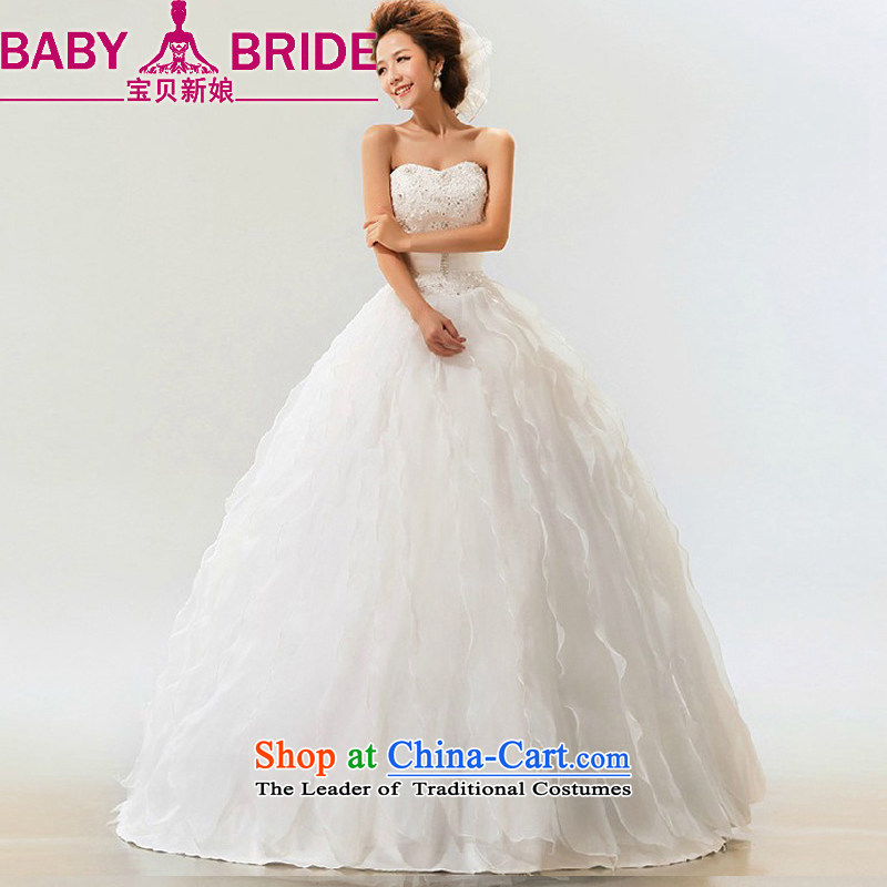 The bride do treasure 2014 Summer new Korean sweet straps to align the Princess Bride marriage wedding dresses made white does not return - size please leave a message