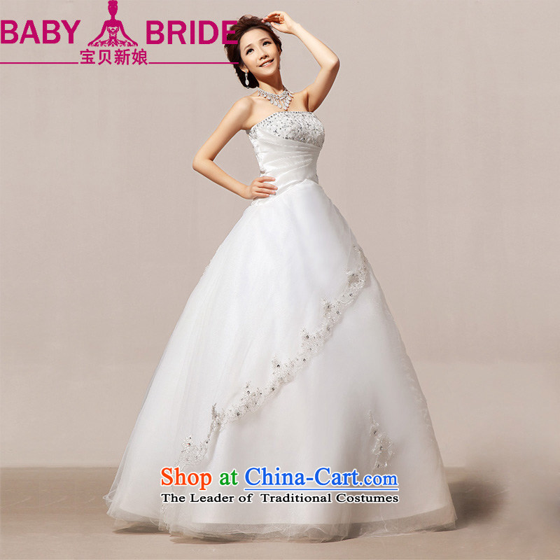 The spring of 2014 recommended the bride treasure Sau San retro straps bon bon Korean wedding dresses of the First Lady of the female white?L