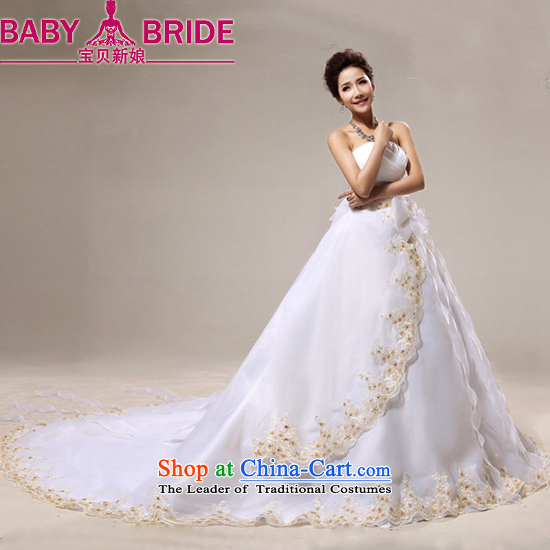 Baby bride wedding new 2014 photo building photography bride anointed chest tail sweet flowers Bow Tie White聽M