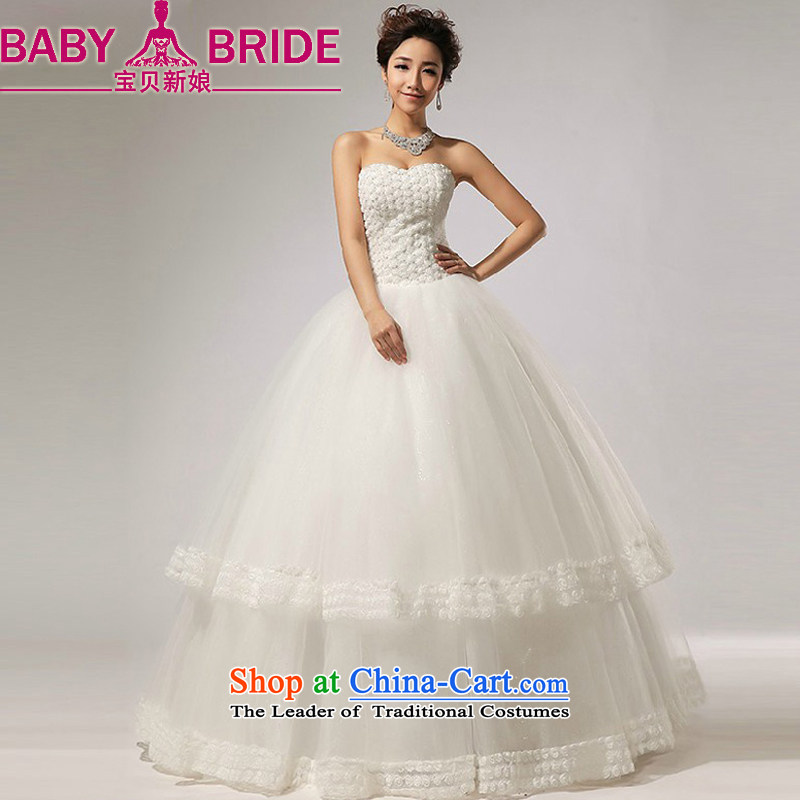 Baby bride 2014 Summer new anointed chest Marquee to skirt for Hotel Courtesy bride wedding dresses made Suzhou White?XL