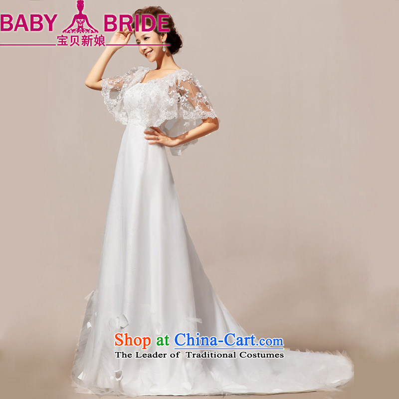 2014 new bride treasure angel lace summer, a field shoulder lace small crowsfoot tail wedding dresses wedding dresses made white does not return - size please leave a message