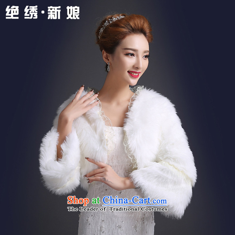 Embroidered is marriages shawl ultra-luxury gorgeous shawl warm gross_ m White