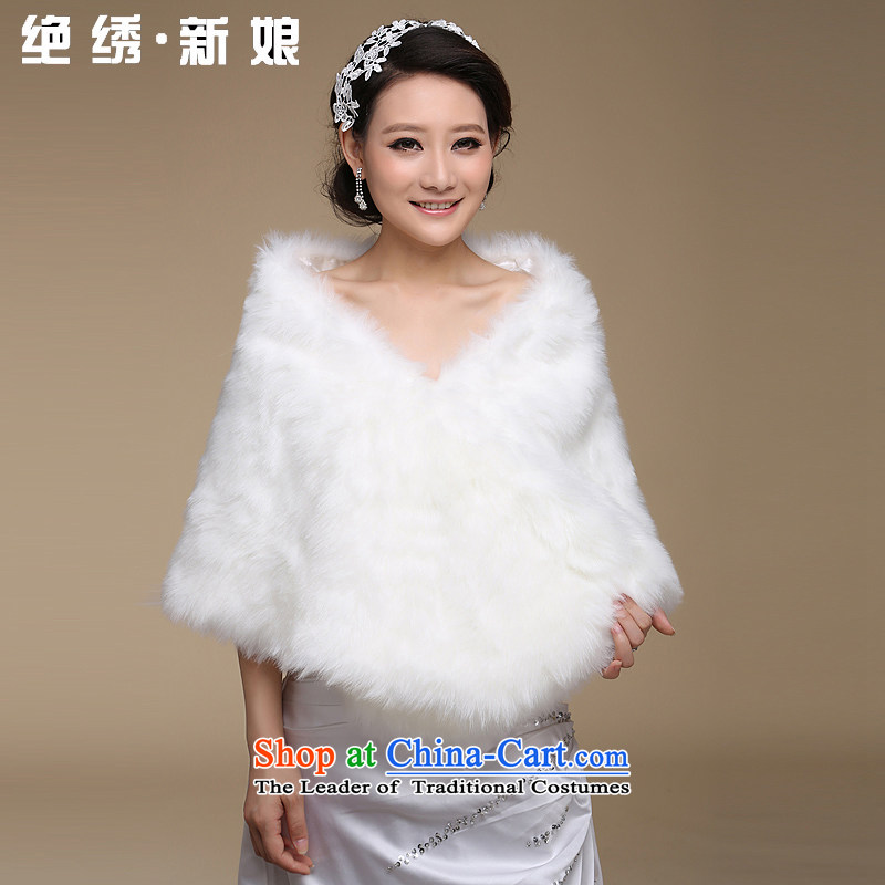 Embroidered bridal shawl absolutely wedding dresses qipao gross shawl and major longer cold widen is not afraid of m White