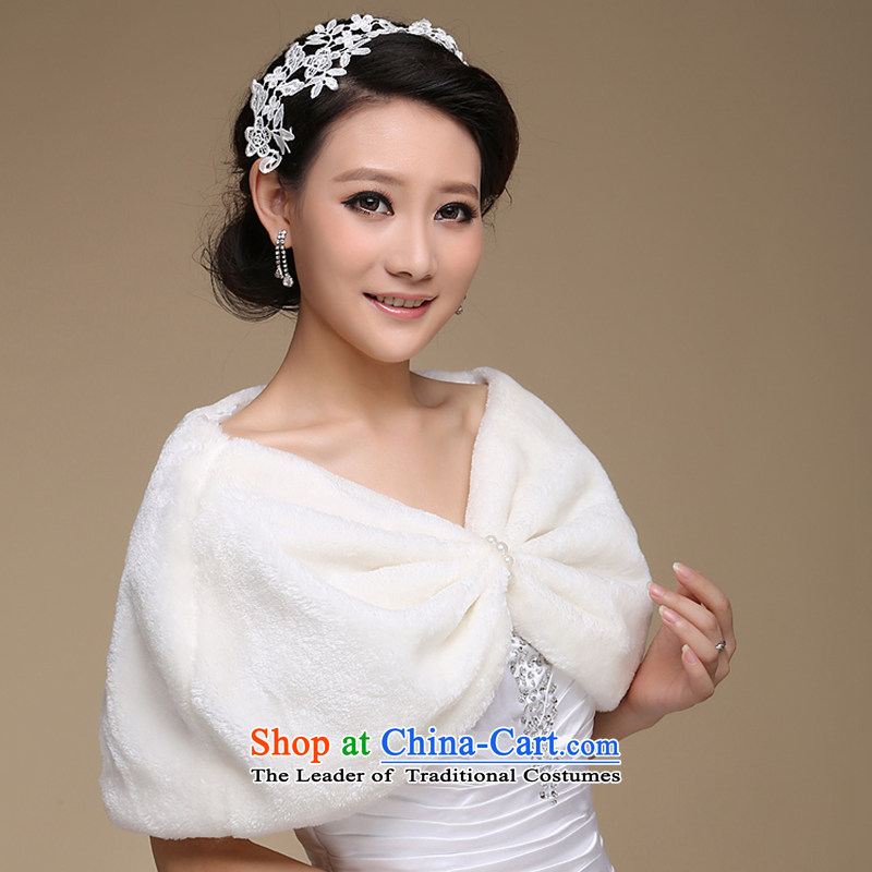 There is an elegant shawl embroidered marriages embroidered pearl bride wild short-haired, wedding gross shawl embroidered, white bride shopping on the Internet has been pressed.