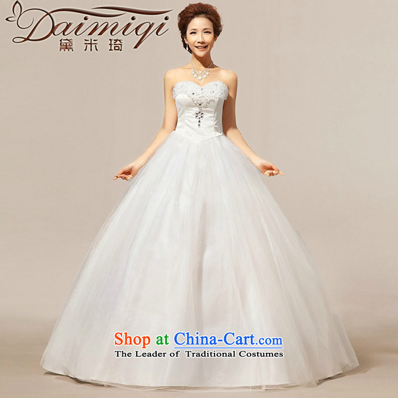 Doi m qi autumn new 2014 outdoor fresh minimalistic anointed chest Korean video thin tether yarn wedding dresses made white does not return