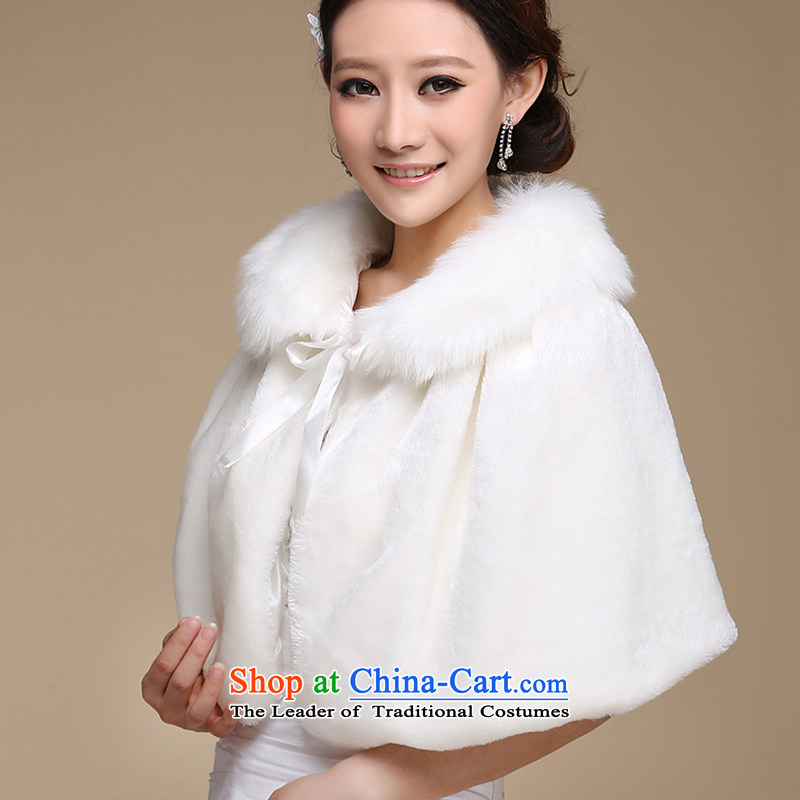 The bride wedding dresses cheongsam red and white small cloak gross shawl Korean New autumn warm winter PJ68 shawl m white hair, embroidered bride shopping on the Internet has been pressed.