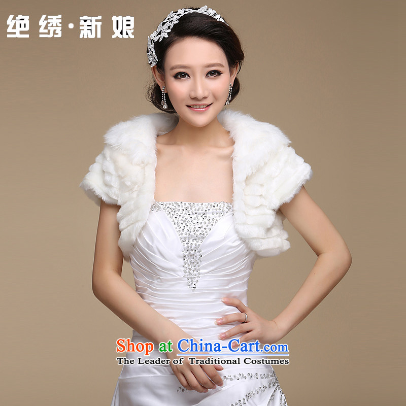 There is gross shawl embroidered bride bride wedding dress wedding jacket Kampala shoulder bridesmaid ponies a marriage shawl m White