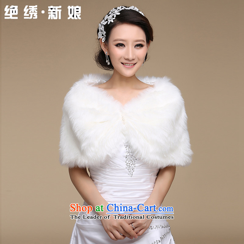 Embroidered is marriages bride shawl winter plush shawl wedding dresses marriage shawl qipao shawl m White