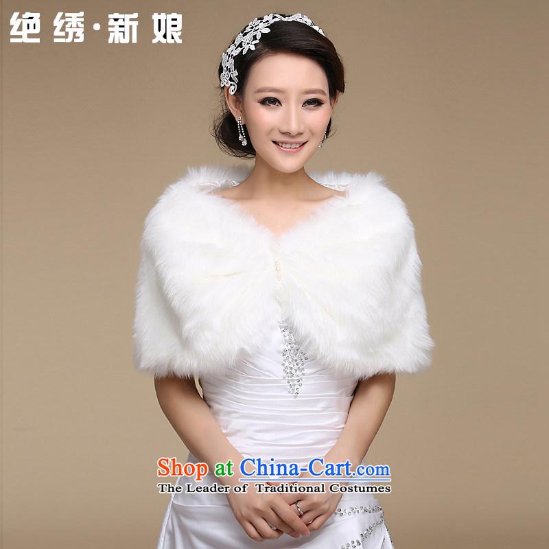 Embroidered is marriages bride shawl winter plush shawl wedding dresses marriage shawl qipao shawl m White