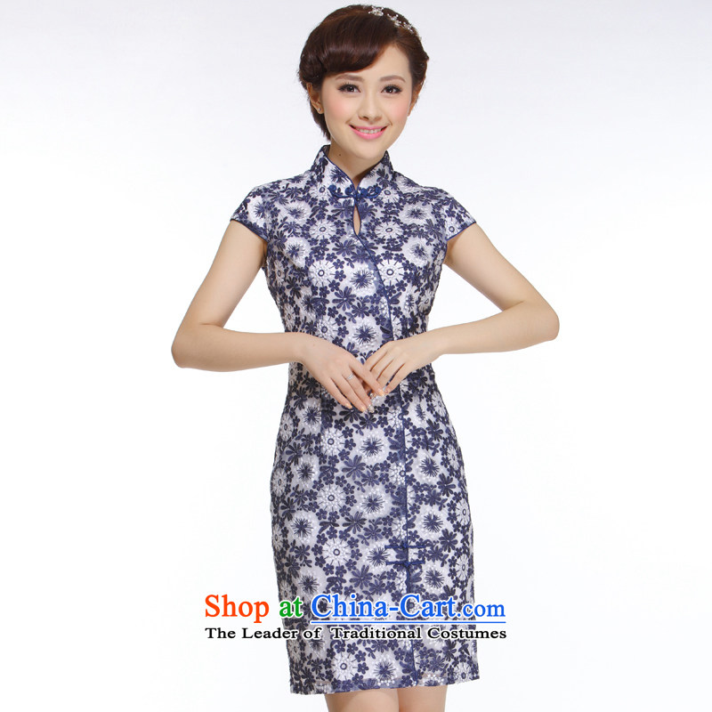 The former Yugoslavia Li aware of the new president of nostalgia for the 2015 improved high-end porcelain lace low power's embroidery cheongsam�QT110-1�porcelain�S