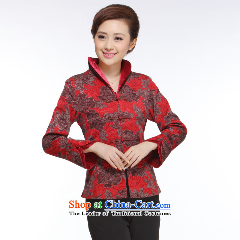 The former Yugoslavia Li aware of the new 2015 Ms. Tang Dynasty Poems thin layer of nostalgia for the improvement of stylish�QN2492 collar double-�double-collar momiji�XL