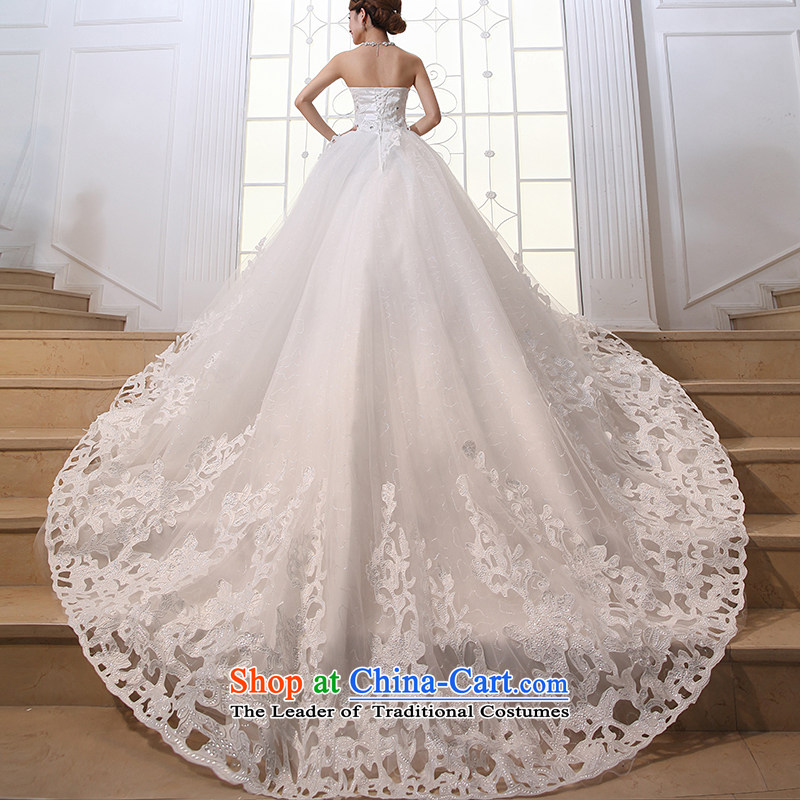 Embroidered bride?2015 Spring is the new Korean Won Elegance Korean sweet princess tail wedding dresses white?S